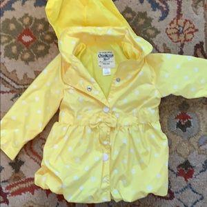 18 mo hooded yellow/white OshKosh spring coat